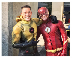 THE FLASH GRANT GUSTIN & TOM CAVANAGH as Dark Flash