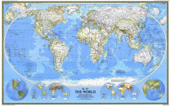 World Map -National Geographic Map of the World