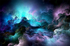 Natural Beautiful Glowing Clouds Abstract